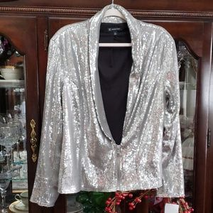 Silver sequin jacket inc.. new!